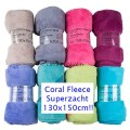 Coral Soft Fleece Deken 130 x 150 cm