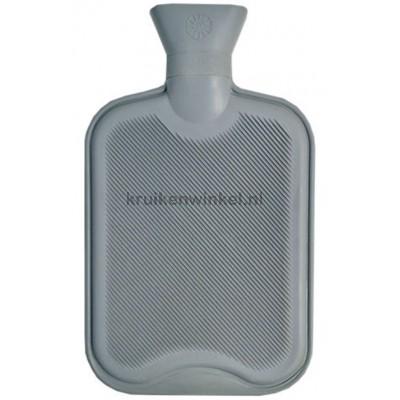 Vagabond Natuurrubber kruik 2 liter Dubbel geribd  Grijs